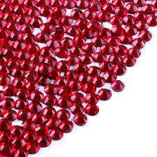 Broušené Kamínky Na Nehty Ss6 Se Swarovski Efektem Garnet Red 2 Mm 50 Ks