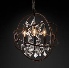 that is way out of the budget so i decided to try to find a similar less expensive light diy orb chandelier