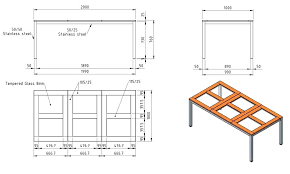 standard coffee table dimensions dining room