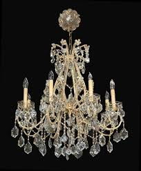 antique french beaded crystal chandelier latique antiques for plan 10