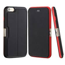 insten flip genuine leather wallet fabric cover case w card slot for apple iphone 6