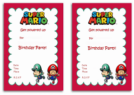 super mario birthday invitations birthday printable super mario birthday invitations