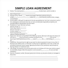 How To Write A Personal Loan Contract Agreement Templates