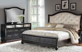 White Tufted Headboard With Queen Bedroom Sets Under 500 And White Furry  Rug Plus Wood Cabinet
