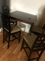 Small White Kitchen Table And 4 Chairs Compact Ikea Chair Decor