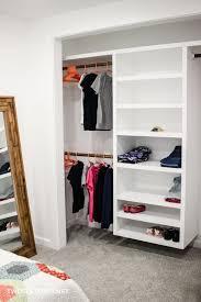 to build a diy floating closet organizer