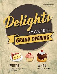 Grand Opening Flyer Awesome Bakery Grand Opening Event Flyer Poster Social Media Post Template