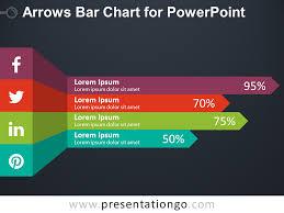 Arrows Bar Chart For Powerpoint Presentationgo Com
