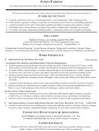 Project Accountant Resume Example Resume Templates Experience Accountant Cv Format Experienced 6