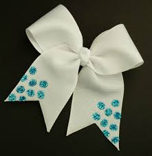 Cheer Bow Designs Blue Glitter Mini Cheer Bow Sold By Otterly Cute Designs
