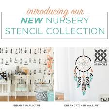 Dream Catchers Furniture Introducing Our New Nursery Stencil Collection Stencil Stories 79