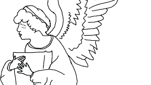 Printable Angel Coloring Page Free Precious Moments Angels Pages