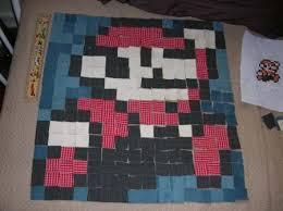Super Mario Quilted Pillow | Sprite Stitch & Mario Pillow 01 Adamdwight.com