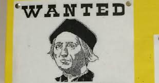 Criminal Prof Bashes Christopher Columbus With Wanted Poster