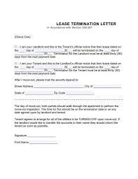10 lease termination letter exles