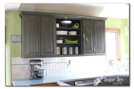 Kitchen Cabinet Reveal thanks Rustoleum Sugar Bee Crafts