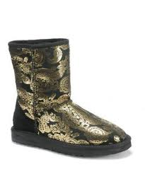 2014 UGG Women Pteris Sequins Short Boots 5825 Black