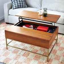 coffee table west elm storage coffee table walnut antique brass west elm west elm storage coffee