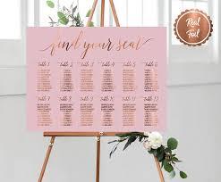 Pink Wedding Seating Chart Custom Seating Plan