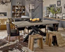 contemporary industrial furniture. Dialma Brown Industrial Style Dining Table In Reclaimed Grey Solid Wood Herringbone Top And Black Angular Contemporary Furniture B