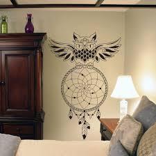Owl Bedroom Accessories Aliexpresscom Buy Dream Catcher Bedroom Owl Wall Decal Art