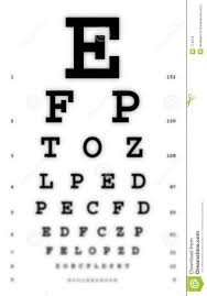 Snellen Chart Free Download Medical Fuzzy Sight Of Eye Chart Stock Image Image Of