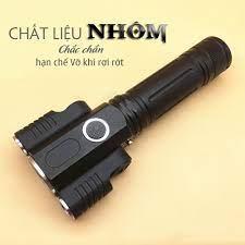 Hàng Cao Cấp] Đèn Pin LED Cầm Tay Siêu Sáng Mini Có Sạc USB Chống Nước - Đèn  pin Hãng No brand