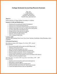 Resume Examples For Accounting Resume Sample For Fresh Graduate Accounting gentileforda 40