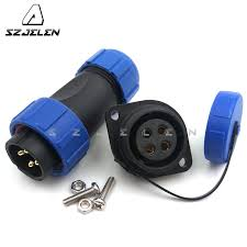 aliexpress com sp2110 sy2113 electrical terminal led outdoor lighting waterproof connector with contacts 4 pin plug and socket from reliable led