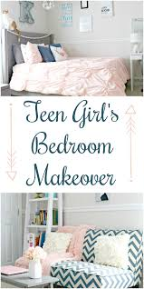 teen girl s bedroom makeover with navy blue grey and blush pink touches