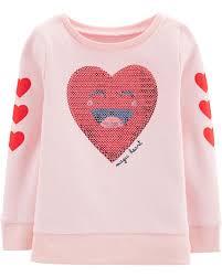 Sequin Heart Sweatshirt Carters Com