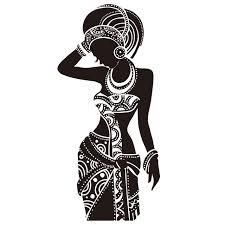 beautiful black woman wall sticker vinyl art poster stickers african woman wall decals home decor on african woman wall art with beautiful black woman wall sticker vinyl art poster stickers african