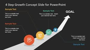 Slide Circle 4 Step Growth Concept Powerpoint Template Slidemodel