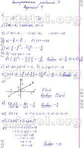 ГДЗ Контрольные работы по математике класс Кузнецова