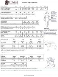 Outback Trading Company Size Chart Sizing Guide