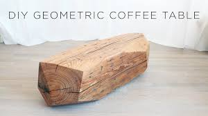 Sliced Log Coffee Table Chainsaw Carved Geometric Wood Coffee Table Youtube