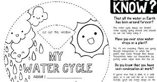 Coloring Pages Of The Water Cycle For Preschoolers Page Kids Worksheet