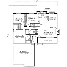 1400 sf ranch house plans inspirational farmhouse style house plan 3 beds 2 baths 1400 sq
