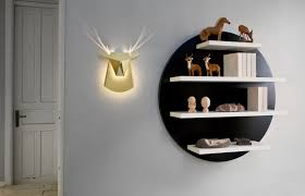 Deer Head Led Light Delightful Deer Head Lamp With Led Light Fixture Living In