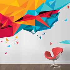 Small Picture Abstract triangles Wall transfers Environmental graphics and