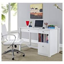 deluxe wooden home office. Home Office Deluxe Storage Computer Desk White Wood Saracina Wooden U