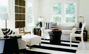 how to enhance a with a black and white striped rug black and white striped rug