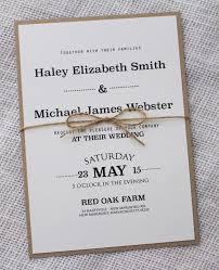 Modern Wedding Invitation Rustic Chic Wedding Invitation Rustic