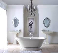 traditional bathroom lighting fixtures. White Bathroom With Traditional Chandelier Light Fixtures , In Lighting T