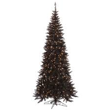 10 Foot Slim Black Artificial Halloween Tree 900 DuraLit Incandescent Clear  Mini Lights 10 Foot Tree