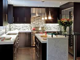 Brown Kitchens Designs Transitional Kitchen Designs With Hanging Lamps And Brown Cabinet