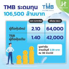 TMB ตั้งราคา TSR 1.40 บาท นักลงทุนรายใหม่จ่าย 2.10 บาท - Hoonsmart