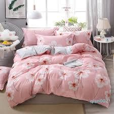 pink strawberry kawaii bedding set