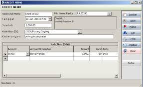memo kredit kredit memo penjualan simak accounting