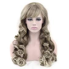Soowee Synthetisch Haar Lange Golvende Bruin Gemengde Blonde Kleur Cosplay Pruiken Party Haar Pruik Hoofddeksels Haaraccessoires Voor Vrouwen